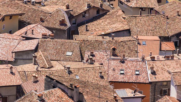 Roofs, Houses, Historic Center, Italy